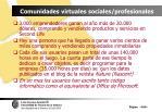 comunidades virtuales sociales profesionales104