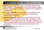 comunidades virtuales sociales profesionales106