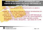 redes inal mbricas universales como soporte de las redes sociales virtuales el caso de fon 2