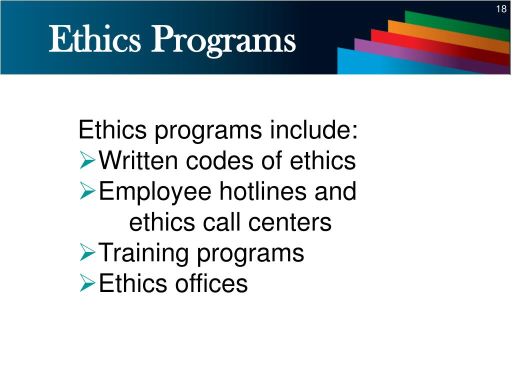 Ethics Programs