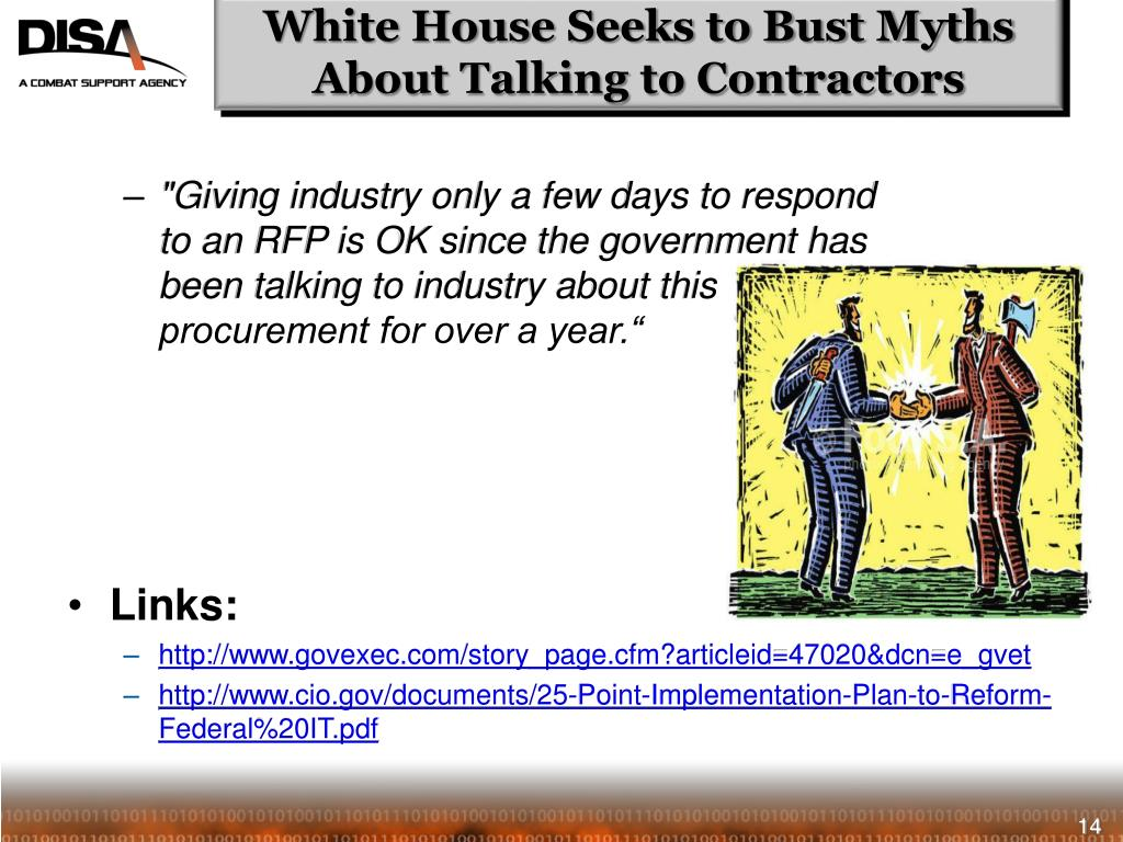 White House Seeks to Bust Myths About Talking to Contractors