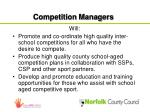 competition managers