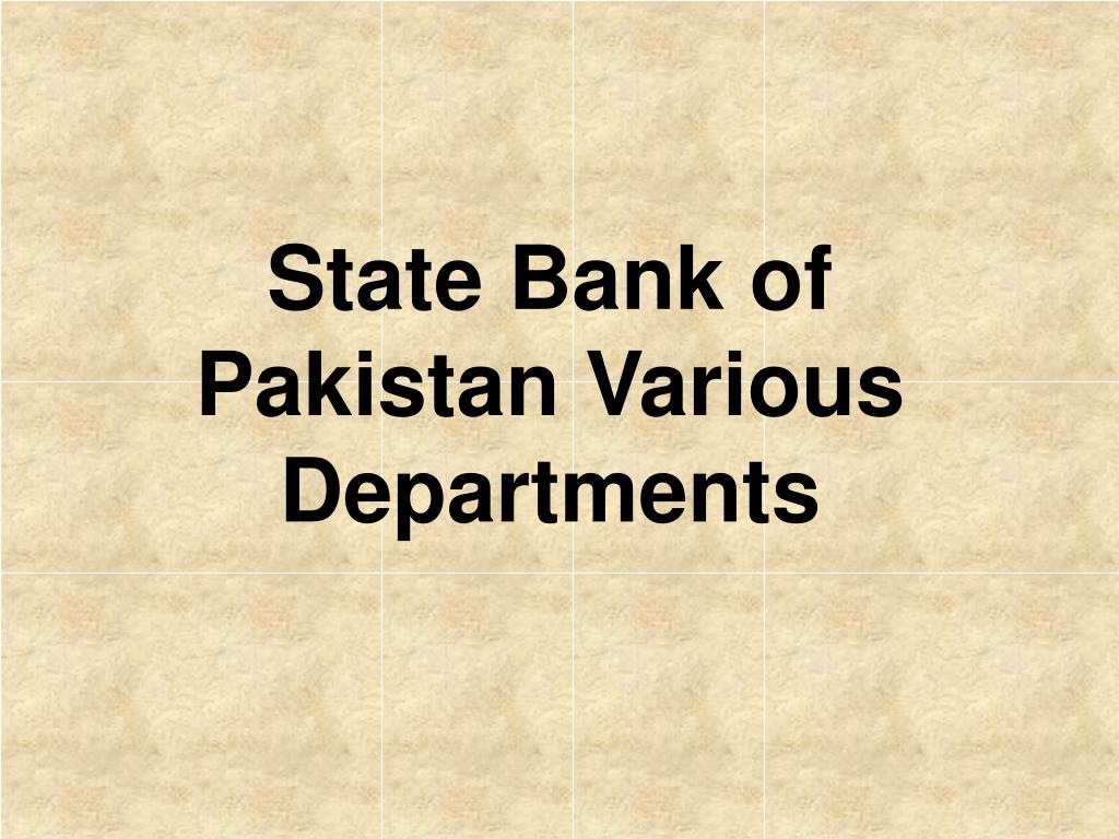 state bank of pakistan various departments l.
