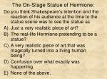 the on stage statue of hermione7