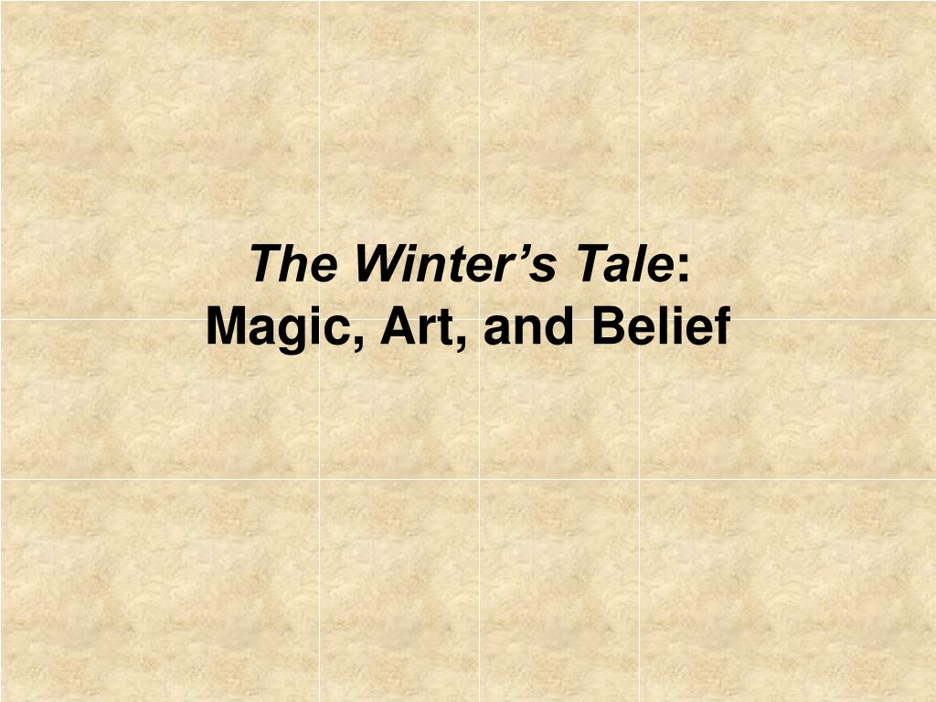 the winter s tale magic art and belief l.