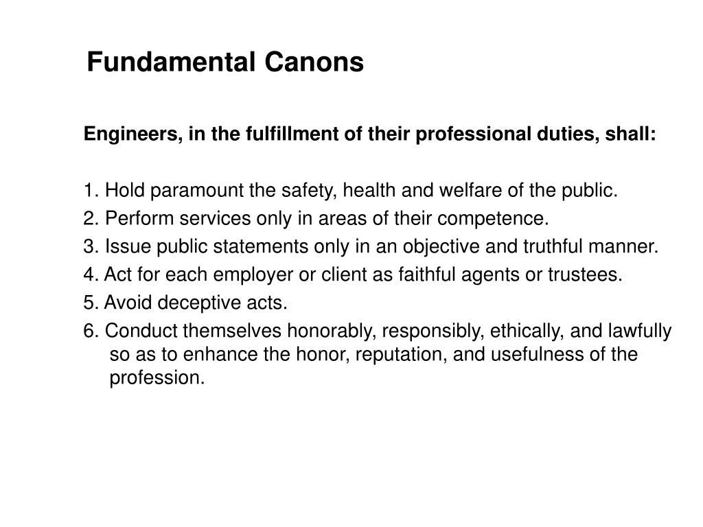 Fundamental Canons