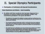 ii special olympics participants21