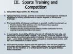 iii sports training and competition23