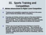 iii sports training and competition31