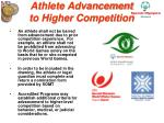 athlete advancement to higher competition32