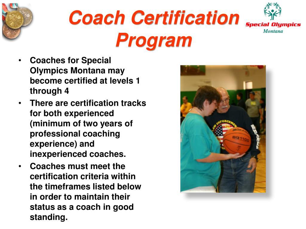 Coach Certification