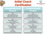 initial coach certification