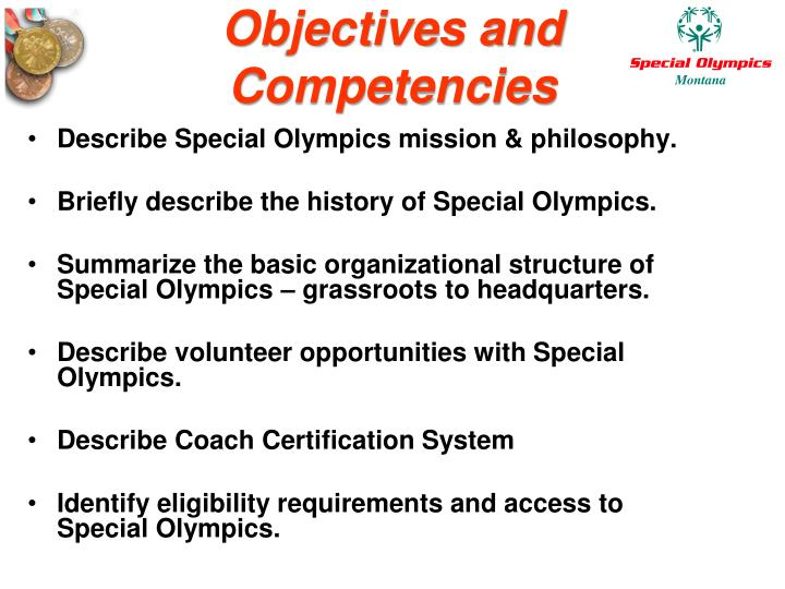 Objectives and competencies
