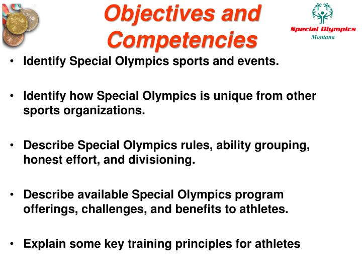 Objectives and competencies3