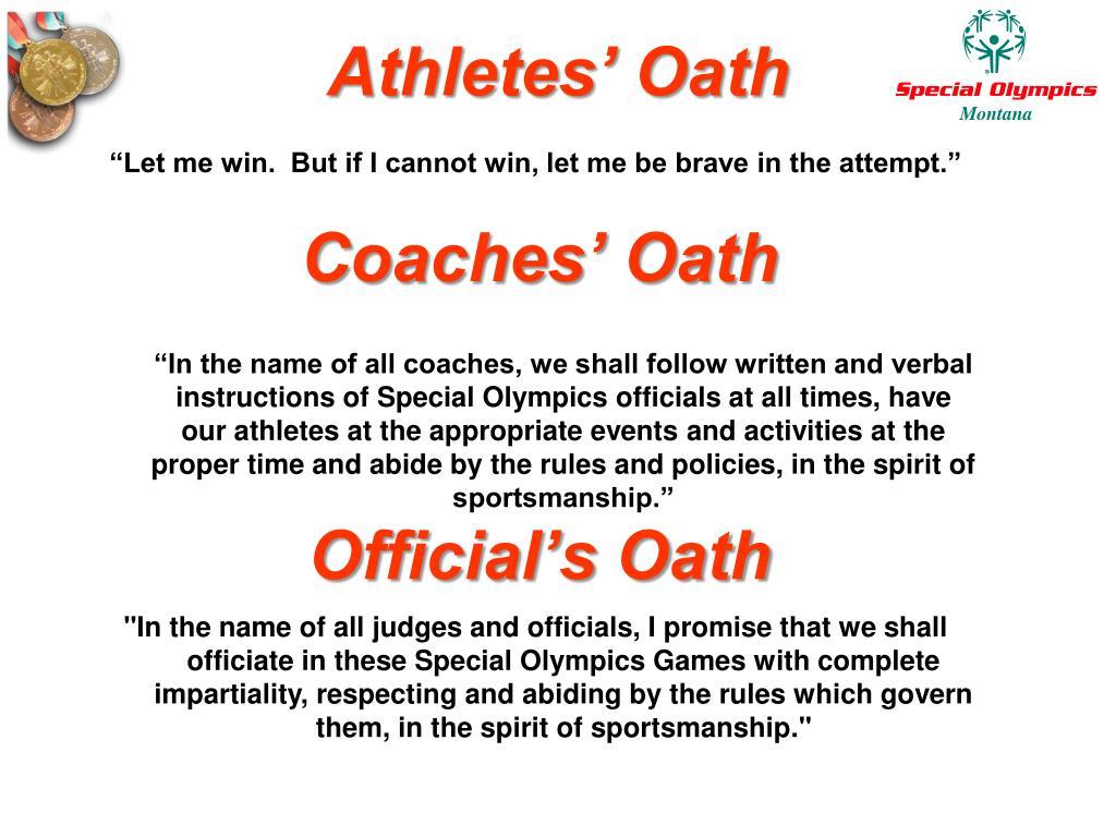 Athletes' Oath