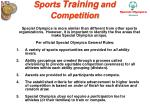 sports training and competition