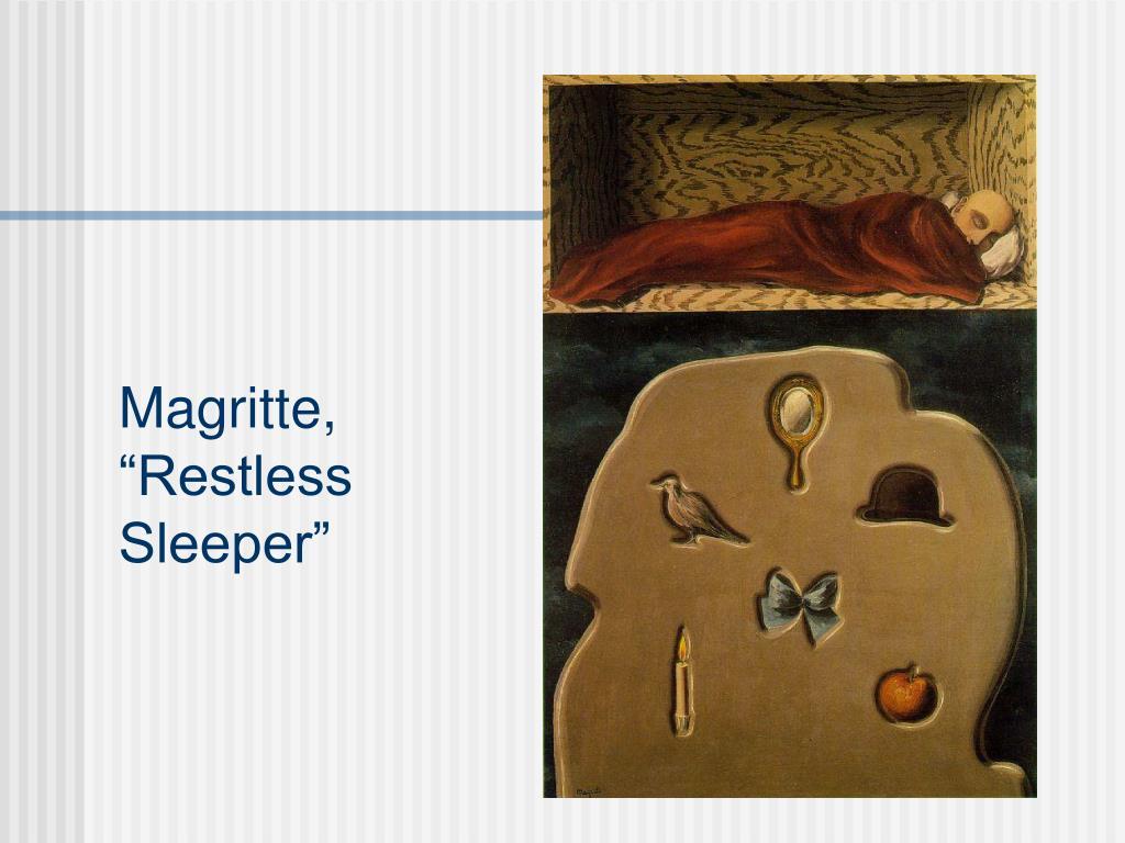 """Magritte, """"Restless Sleeper"""""""