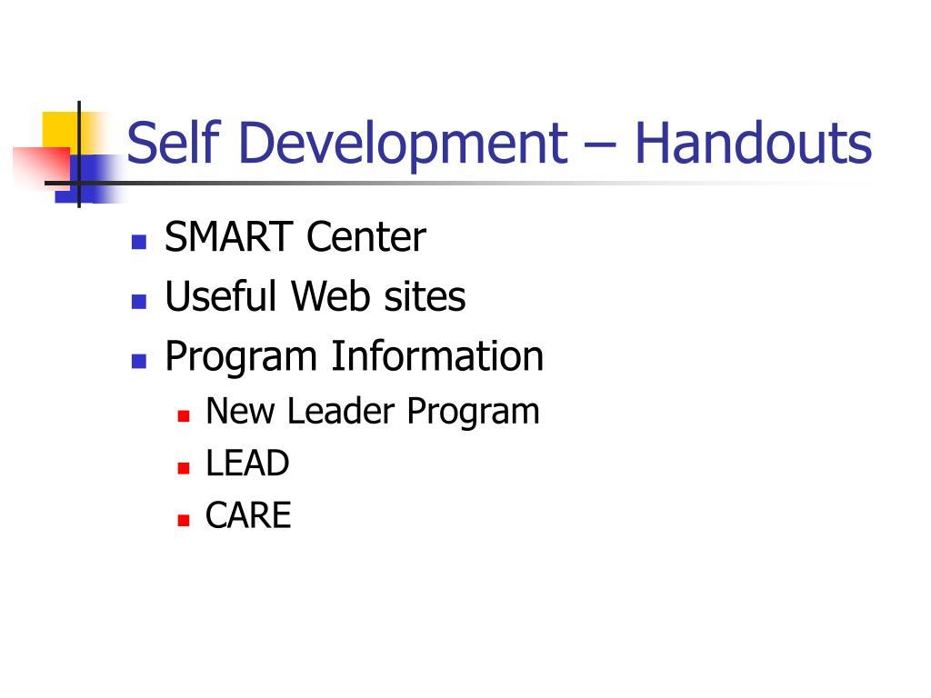Self Development – Handouts