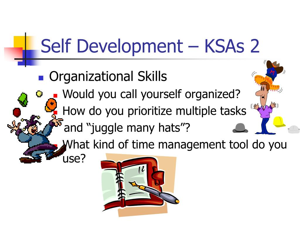 Self Development – KSAs 2