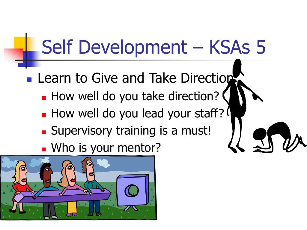 Self Development – KSAs 5