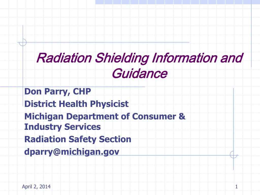radiation shielding information and guidance l.