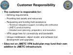 customer responsibility