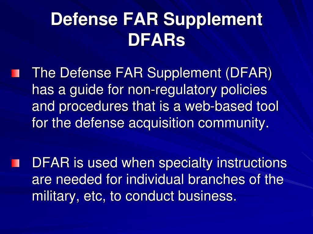 Defense FAR Supplement