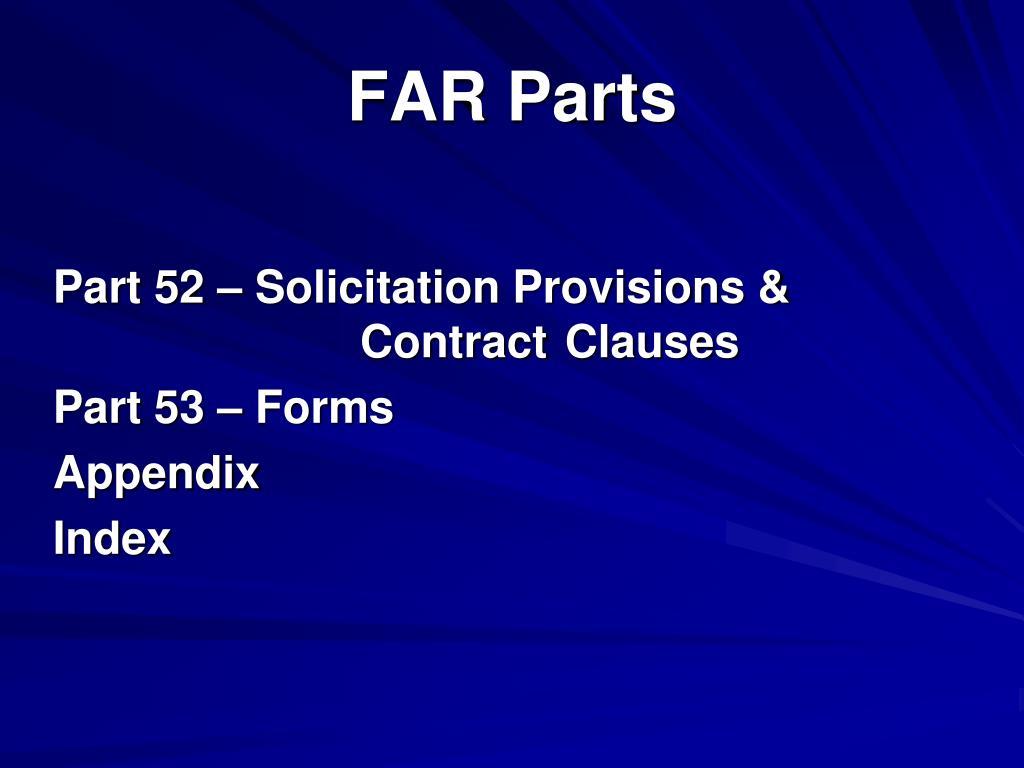 FAR Parts
