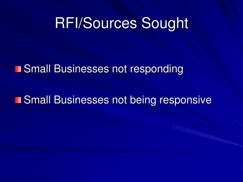 RFI/Sources Sought
