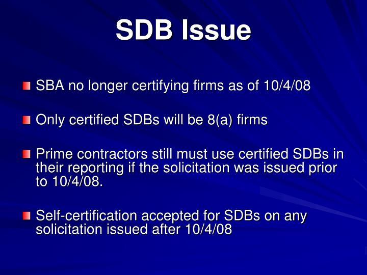 Sdb issue
