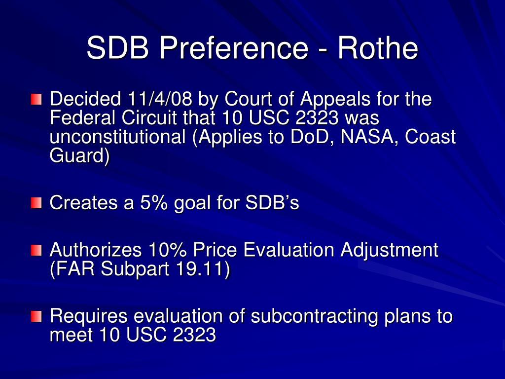 SDB Preference - Rothe