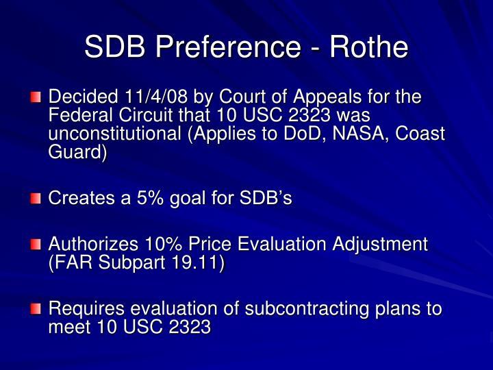 Sdb preference rothe