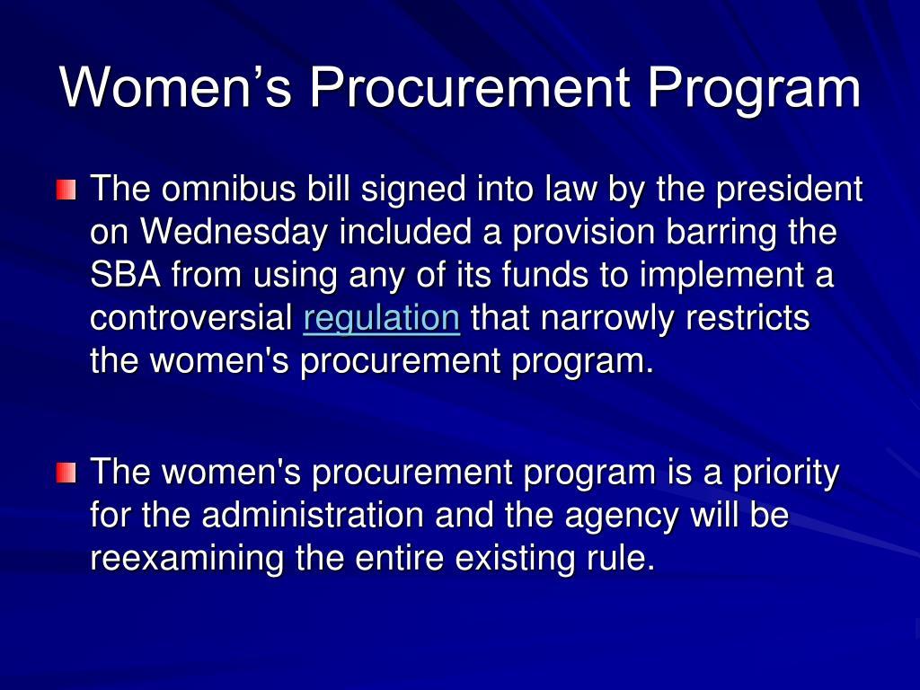 Women's Procurement Program