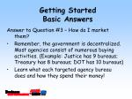 getting started basic answers12