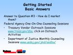 getting started basic answers14
