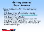 getting started basic answers15