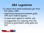 sba legislation