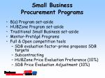 small business procurement programs