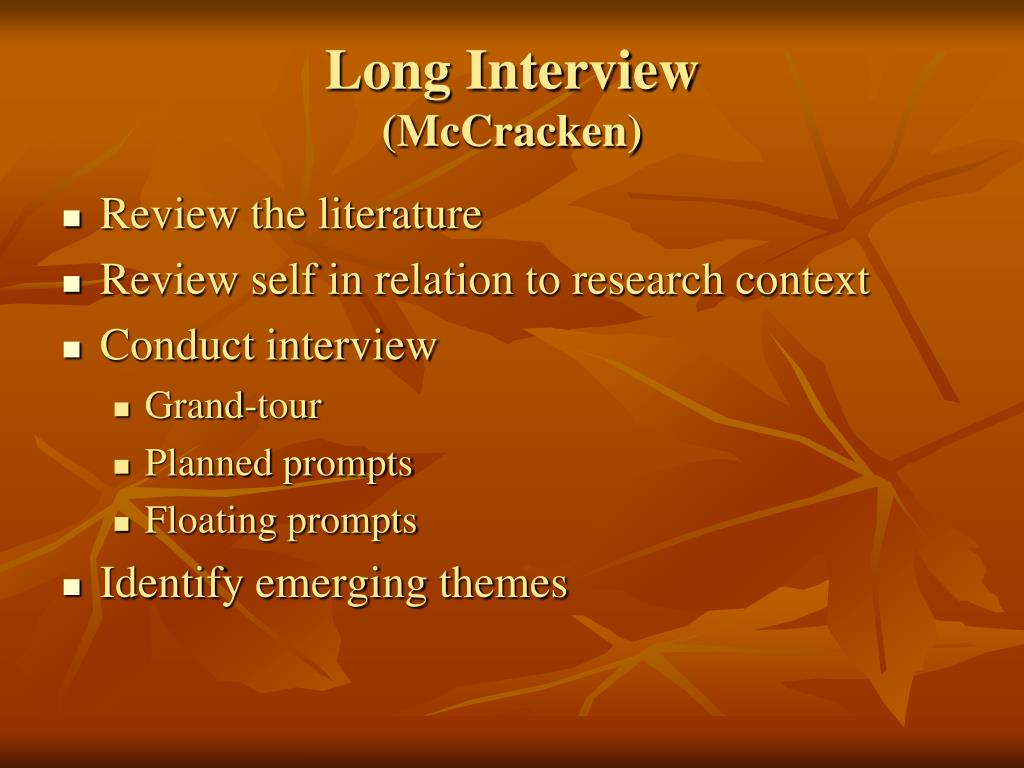 Long Interview
