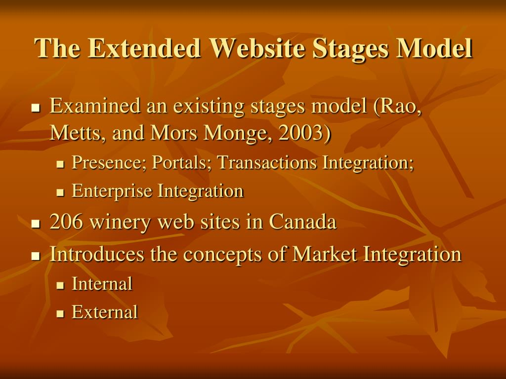 The Extended Website Stages Model