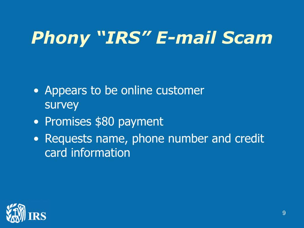 """Phony """"IRS"""" E-mail Scam"""