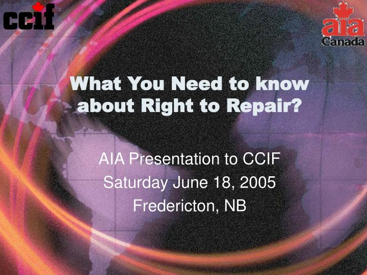 what you need to know about right to repair n.