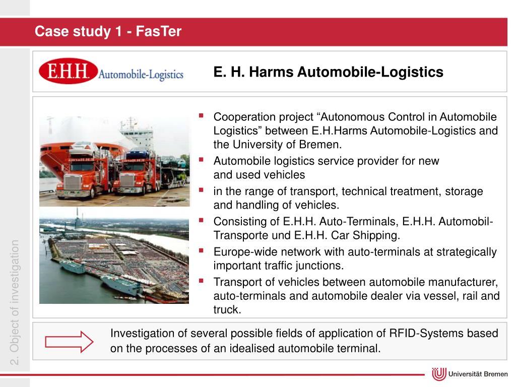 "Cooperation project ""Autonomous Control in Automobile Logistics"" between E.H.Harms Automobile-Logistics and the University of Bremen."