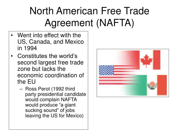 an introduction to north american free trade agreement nafta I introduction the north american free trade agreement (nafta) was  implemented on january 1, 1994 it is designed to remove.