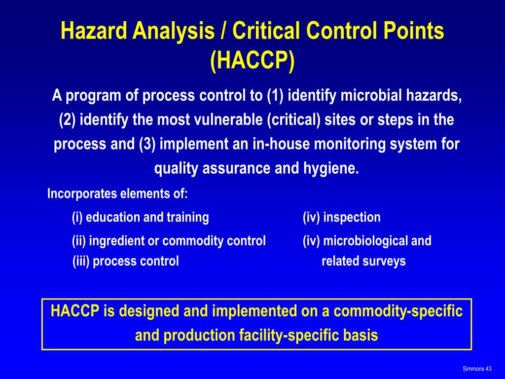 hazard analysis and critical control points 2 essay Hazard analysis and critical control points system optimization in a starch factory georgiana deciu, arina oana antoce1 university of agronomic sciences and veterinary medicine of bucharest.