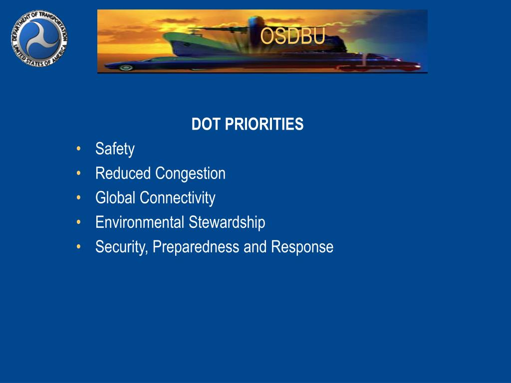 DOT PRIORITIES