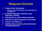 response overview