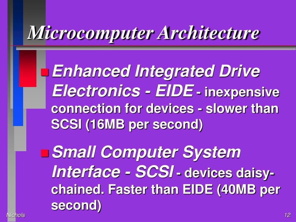 Microcomputer Architecture