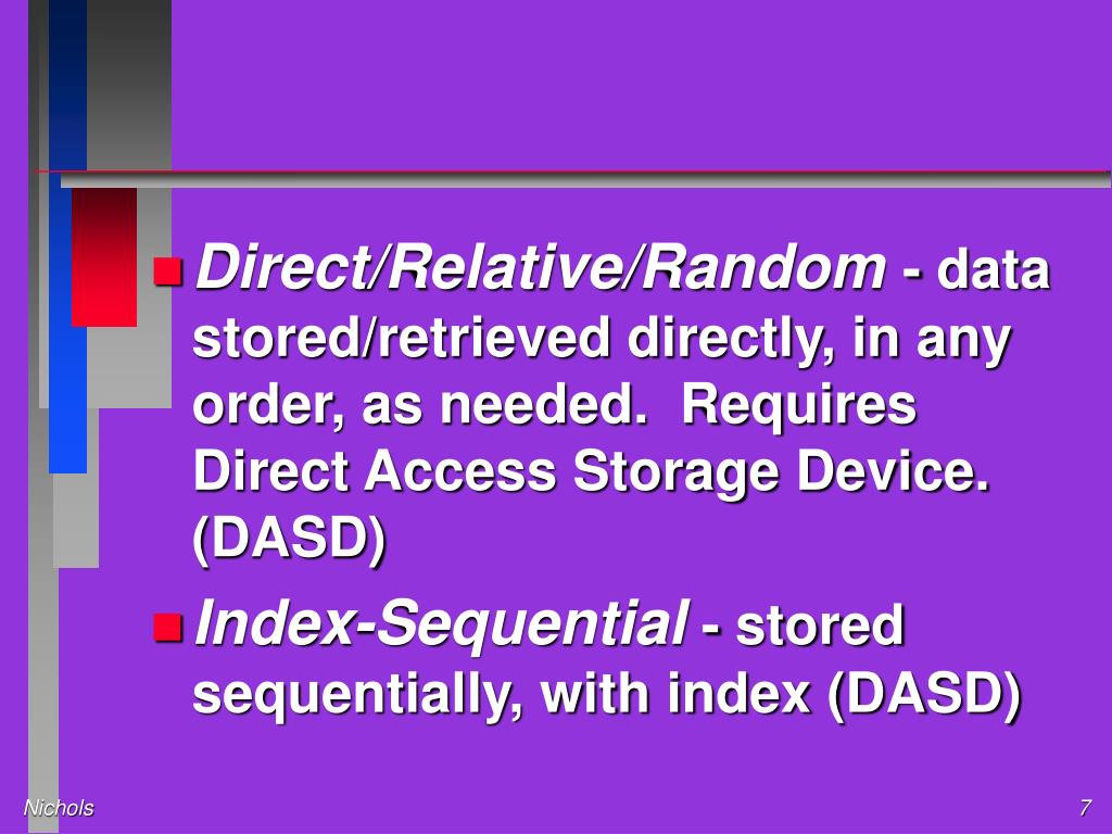 Direct/Relative/Random