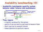 availability benchmarking 101
